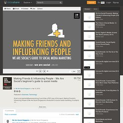 Making Friends & Influencing People - We Are Social's beginner's gu...
