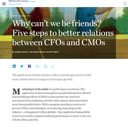 Why can't we be friends? Five steps to better relations between CFOs and CMOs
