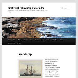 Friendship | First Fleet Fellowship Victoria Inc