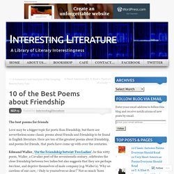 10 of the Best Poems about Friendship