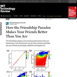 How The Friendship Paradox Makes Your Friends Better Than You Are