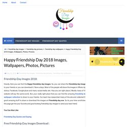 Happy Friendship Day 2018 Images