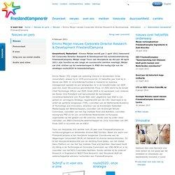 Emmo Meijer nieuwe Corporate Director Research & Development FrieslandCampina - Nieuws - FrieslandCampina - Nieuws en pers