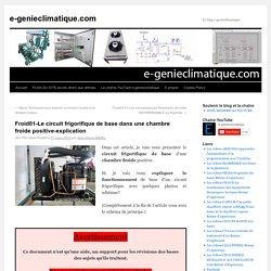 Froid01-Le circuit frigorifique de base dans une chambre froide positive-explication