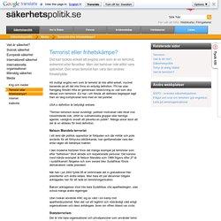 Terrorist eller frihetskämpe? - Sakerhetspolitik.se