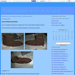 pour les frileuses des pieds ... - Petits plaisirs avec de la laine (version imprimable)
