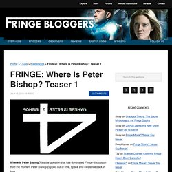Fringe Season 4 Part 1
