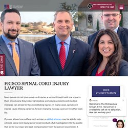 Frisco Spinal Cord Injury Lawyer