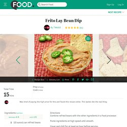 Frito Lay Bean Dip Recipe