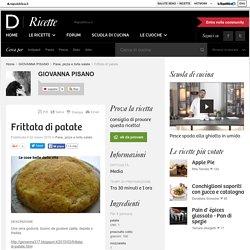 Frittata di patate - ricette GIOVANNA PISANO
