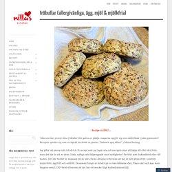 Fröbullar (allergivänliga, ägg, mjöl & mjölkfria)
