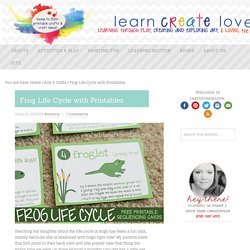 Frog Life Cycle with Printables