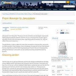 From Amman to Jerusalem