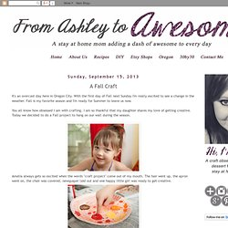 From Ashley to Awesome: A Fall Craft