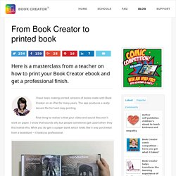 From Book Creator to printed book