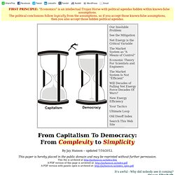 From Capitalism To Democracy