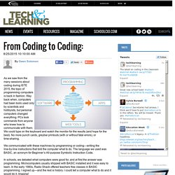 From Coding to Coding: