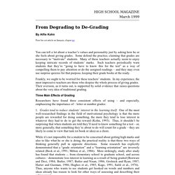 From Degrading to De-Grading