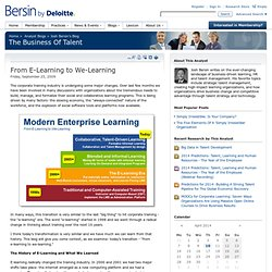 From E-Learning to We-Learning
