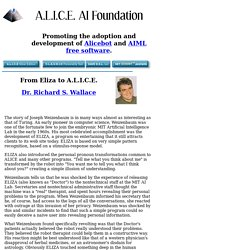 From Eliza to A.L.I.C.E. (A.L.I.C.E. AI Foundation)