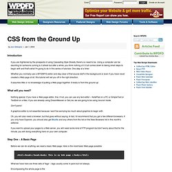 CSS from the Ground Up