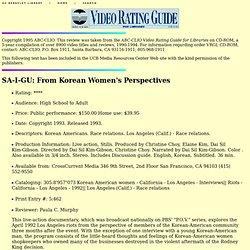 SA-I-GU: From Korean Women's Perspectives