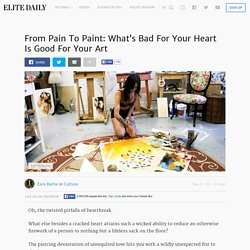 From Pain To Paint: What's Bad For Your Heart Is Good For Your Art