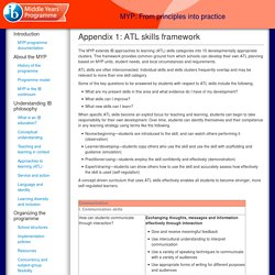 MYP: From principles into practice