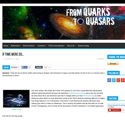 If Time Were 2D… - From Quarks to Quasars