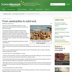 From sandcastles to solid rock