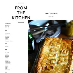 From The Kitchen: Cheat's Chicken Pie