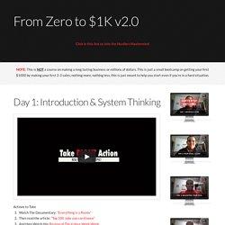 From Zero to $1K v2.0