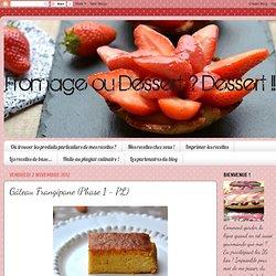 Gâteau Frangipane (Phase 1 - PL)