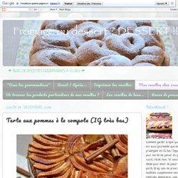 Fromage ou Dessert ? ... DESSERT !!!: Tarte aux pommes à la compote (IG très bas)
