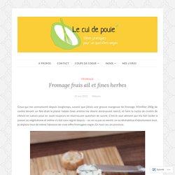 Fromage frais ail et fines herbes – OK :-)