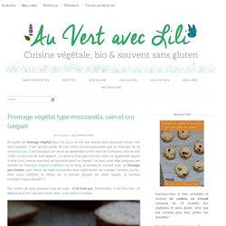 Fromage végétal type mozzarella, sain et cru