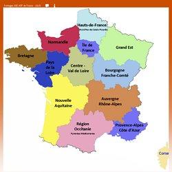 Fromages AOC-AOP de France - Carte