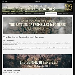 The Battles of Fromelles and Pozières - Campaign Overview