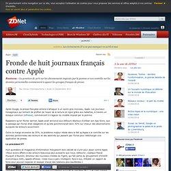 Fronde de huit journaux français contre Apple