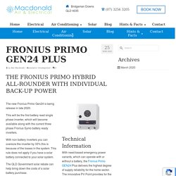 Fronius Primo GEN24 Plus -Macdonald Air & Electrical