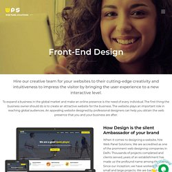 Best Front End Web and APP Design Company in Delhi NCR, India