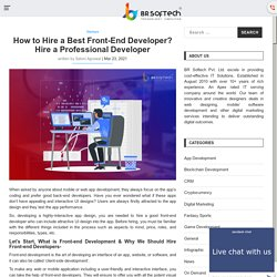 How to Hire a front-end developer - Hire Professional Front-end Developer