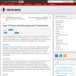 Top 10 Front-end Development Frameworks