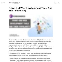Front-End Web Development Tools And Their Popularity