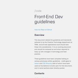 Front-End Dev guidelines