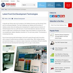 Front End Web Development Tools