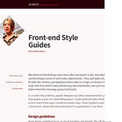 Front-end Style Guides