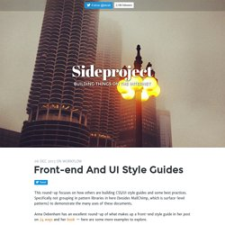 Front-end and UI style guides