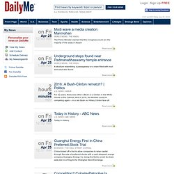 Front Page News from Leading Sources - DailyMe.com