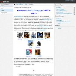 Front Page: MOOC MOOC Jan 2013